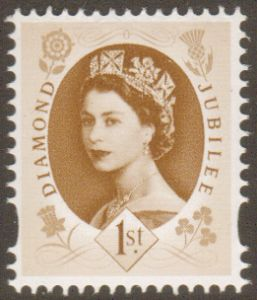 SG3329 1st Class Diamond Jubilee Wilding Definitive Stamp
